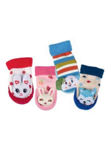 """24613- Dojčenské domáce, froté ponožky s podrážkou  """"LAUFSOHLE"""""""