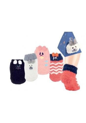 """24615- Baby domáce protišmikové ponožky v krabičkách  """"KOPF MOTIVE"""" - 1 pár"""