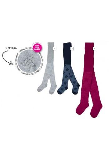 """28089- Detské vzorované pančuchové nohavice 3D optik """"GIRL 3D"""""""