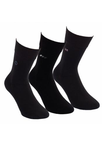 "31006- Pánske nadmerné ponožky XL ,,BLACK-DESIGN"" - 3 páry/bal."