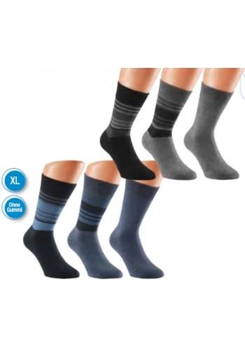 """31009- Pánske bavlnené zdravotné ponožky XL """"CLASSIC STREIFEN"""""""