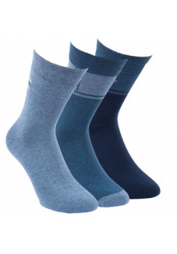 "31017-Pánske nadmerné ponožky XL ""JEANS TREND"" -3 páry/bal."