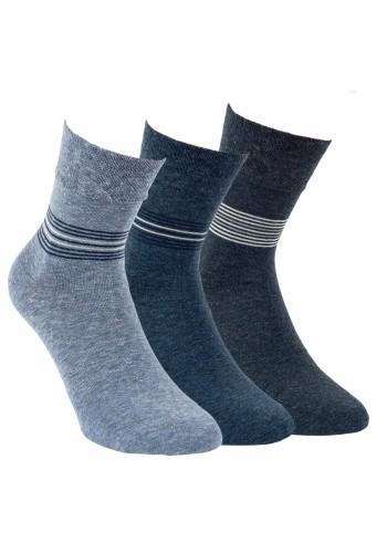 "31021 - Pánske nadmerné skrátené ponožky ""JEANS"" -  3 páry/bal."