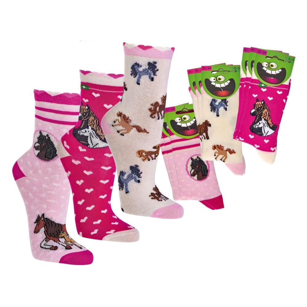 """3165 - Dievčenské ponožky """"ROMANTIK PFERDE"""" -3 páry/bal."""
