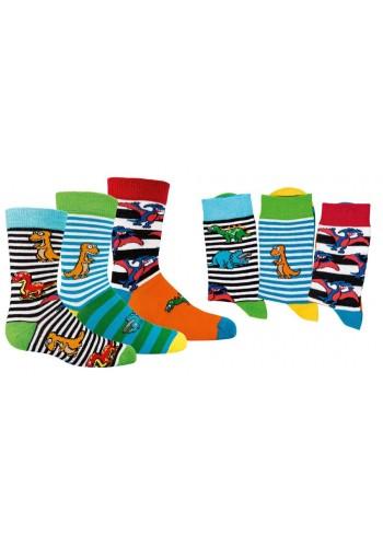 "3189 - Detské ponožky ""DINO"" - 3 páry/bal."