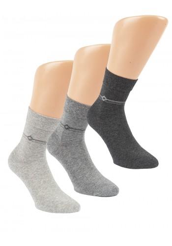 """32048 - Pánske zdravotné, skrátené ponožky """"SILVER TREND"""" - 3 páry/bal."""