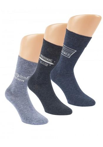 """32152 - Pánske bavlnené, zdravotné ponožky """"ORIGINAL JEANS"""" - 3 páry/bal."""