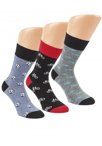"""32165 - Pánske bavlnené, zdravotné ponožky """"FUNNY STYLE"""" - 3 páry/bal."""