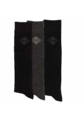 """33015 - Pánske bavlnené podkolienky """"BLACK & ANTHRAZIT"""" - 3 páry/bal."""