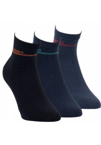"""35173- Pánske vzorované kotníkové ponožky ,,BLUE"""" - 3 páry/bal."""