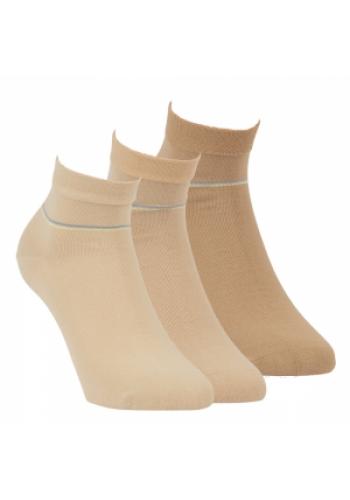 """35175- Pánske kotníkové ponožky ,,NATUR"""" - 3 páry/bal."""