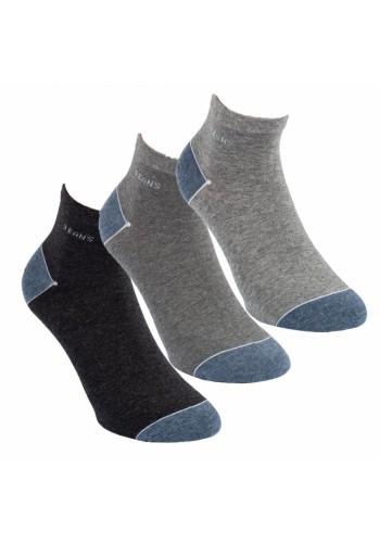 """35177- Pánske kotníkové ponožky ,,SILBER"""" - 3 páry/bal."""