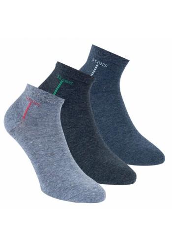 """35180 - Pánske členkové ponožky """"COLORED LINE"""" - 3 páry/bal."""
