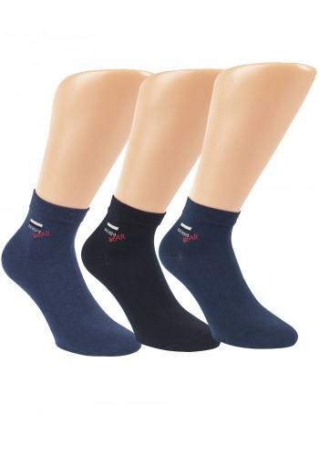 """35183 - Pánske členkové ponožky """"DENIM WEAR"""" - 3 páry/bal."""
