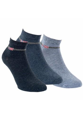 "35185 - Pánske členkové ponožky ""JEANS"" - 3 páry/bal."