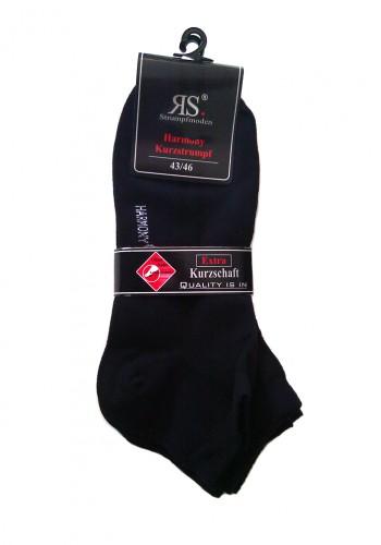 """35198- Pánske bavlnené kotníkové ponožky """"SCHWARZ"""" - 3 páry/bal."""