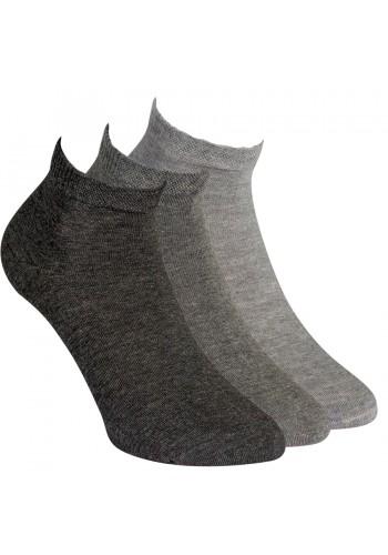 35201 - Pánske bavlnené členkové ponožky - 3 páry/bal.