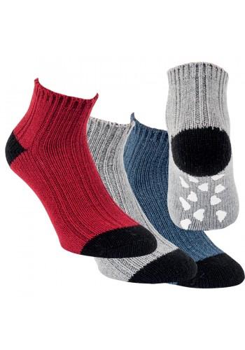 """44435 - Vlnené ponožky s gumenou podrážkou """"ABS SOHLE"""" - 1 pár"""