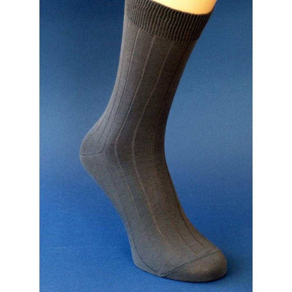 PRINCE Antibakteriálne pánske rebrované oblekové ponožky 100% bavlna