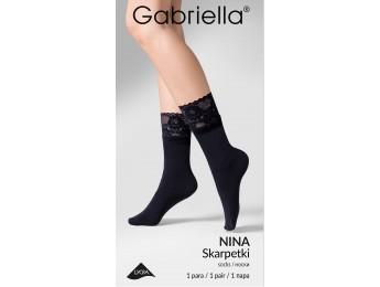 Nina ponožky s čipkou 60den