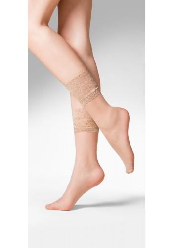 Kala ponožky s čipkou