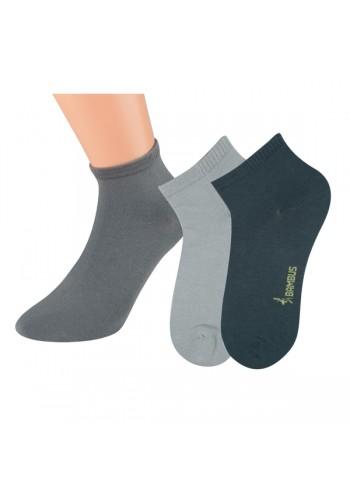 """43019- Bambusové kotníkové ponožky SORBTEK """"BAMBUS"""" - 3 páry/bal."""