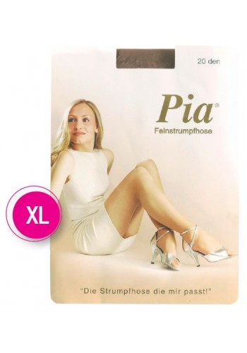 10206- Dámske silónové paňuchové nohavice PIA, 20 DEN XL - 1 balenie