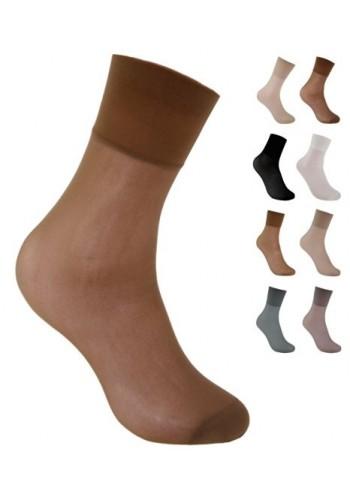 10226- Dámske silónové pohodlné ponožky PIA, 30 DEN - 2 páry/bal.