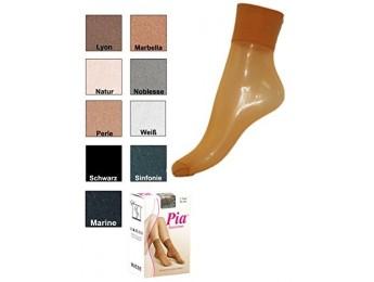 10227- Dámske silónové ponožky PIA, 20 DEN, 2páry - 2 páry/bal.