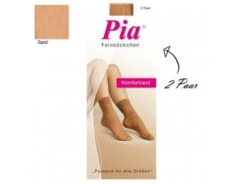 10231- Dámske silónové ponožky zo saténového vlákna PIA, 15 DEN 2 páry/bal.