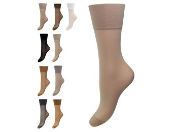 11227- Dámske silónové pohodlné ponožky PIA, 20 DEN - 2 páry/bal.
