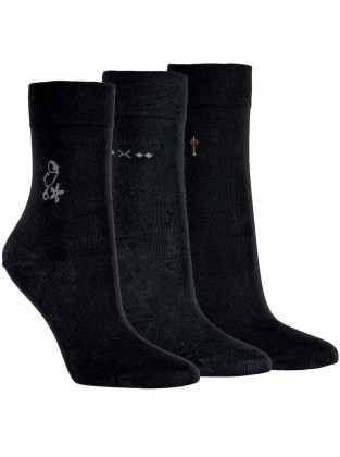 11938 - Dámske bavlnené ponožky - 3 páry/bal.