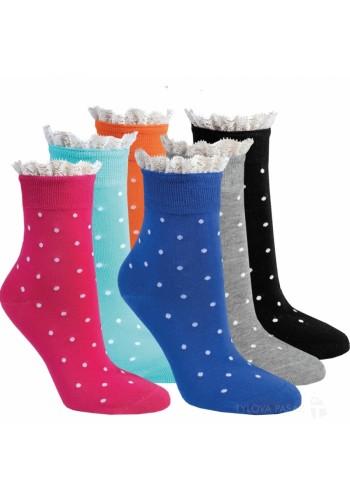 """11963- Dámske elegantné ponožky """"RÜSCHEN-RAND"""" - 3 páry/bal."""