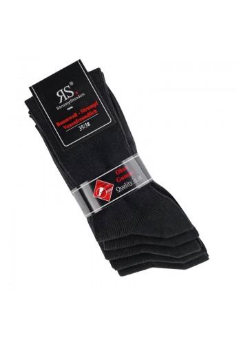 """12712- Dámske rebrované ponožky """"SCHWARZ"""" - 5 párov/bal."""