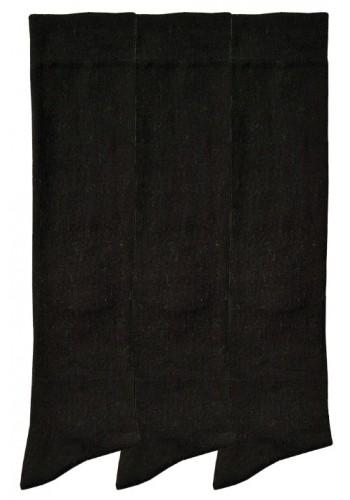 """12998- Dámske bavlnené podkolienky """"SCHWARZ""""- 3 páry/bal."""