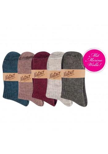 "13350-A- Dámske vlnené ponožky ""ALPAKA ""- 2 páry/bal."