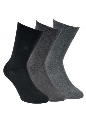 """13357- Dámske vlnené ponožky """"FEIN"""" - bez gumy- 3 páry/bal."""