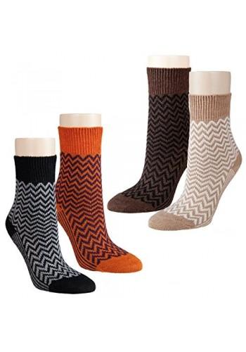 """13386- Dámske vlnené ponožky """"ZICK ZACK""""- 2 páry/bal."""