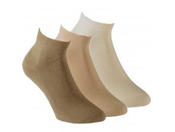 """15270- Dámske bavlnené kotníkové ponožky """"CLASSIC NATUR""""- 3 páry/bal."""