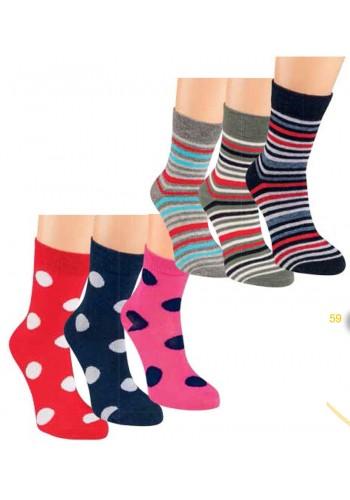 "20854- A -Detské prúžkované ponožky ""RINGEL"" - 3 páry/bal."