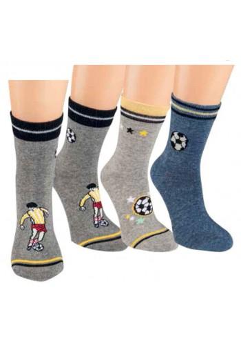 """20855- Detské ponožky """"FUSSBALL"""" - 3 páry/bal."""