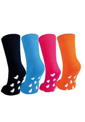 """22120- Detské froté ponožky s gumenou podrážkou """"ABS SOHLE"""" - 1 pár"""