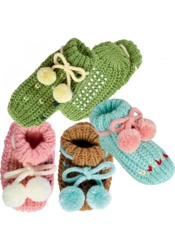 """24609- Dojčenské pletené ponožky """"BOMMEL"""" - 1 pár"""