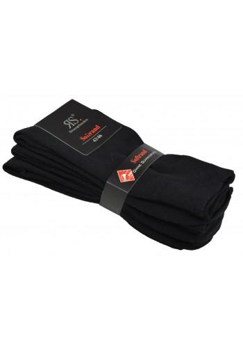 """31196- Pánske bavlnené zdravotné ponožky """"BLACK"""" - 3 páry/bal."""