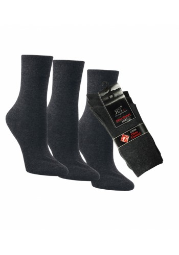 "31210- Pánske bavlnené zdravotné ponožky ""ANTHRAZIT"" - 3 páry/bal."