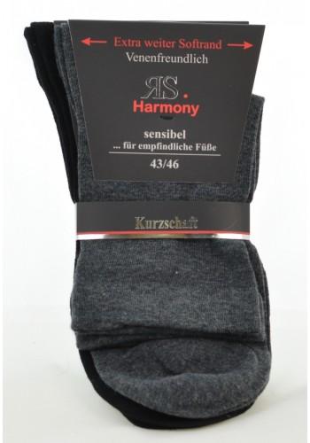 """32027- Pánske bavlnené zdravotné skrátené ponožky """"GANZ OHNE GUMMI""""- 2 páry/bal."""