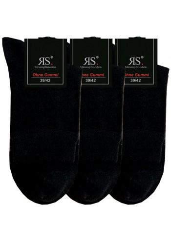 """32029- Pánske bavlnené zdravotné skrátené ponožky """"SCHWARZ"""" - 3 páry/bal."""