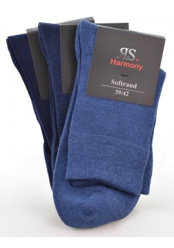 """32030- Pánske bavlnené zdravotné skrátené ponožky """"JEANS"""" 2 - 3 páry/bal."""