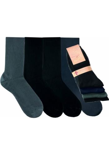"""32521- Pánske 100% bavlnené ponožky """"DUNKEL"""" - 4 páry/bal."""