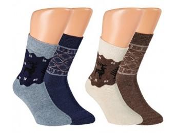 """32775- Pánske vlnené termo ponožky """"WINTER DESIGN"""" - 2  páry/bal."""